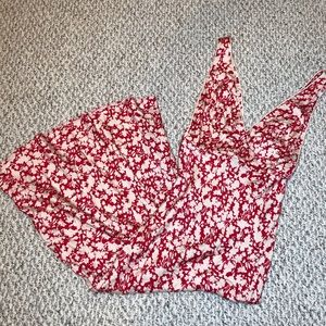 Free People Sleeveless Deep V Floral Maxi Dress